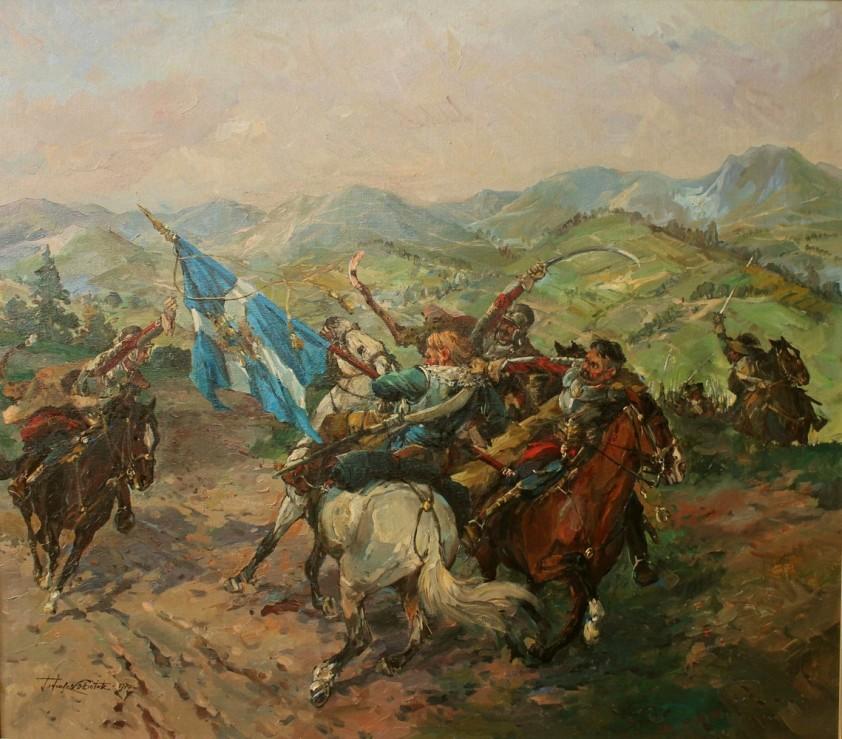 malowidło znalezione w jednej z polskich jaskiń